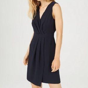 Club Monaco Navy Winhona Pleat Front Dress 0